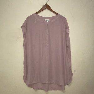 Ava & Vic Blush loose sheer short sleeve blouse